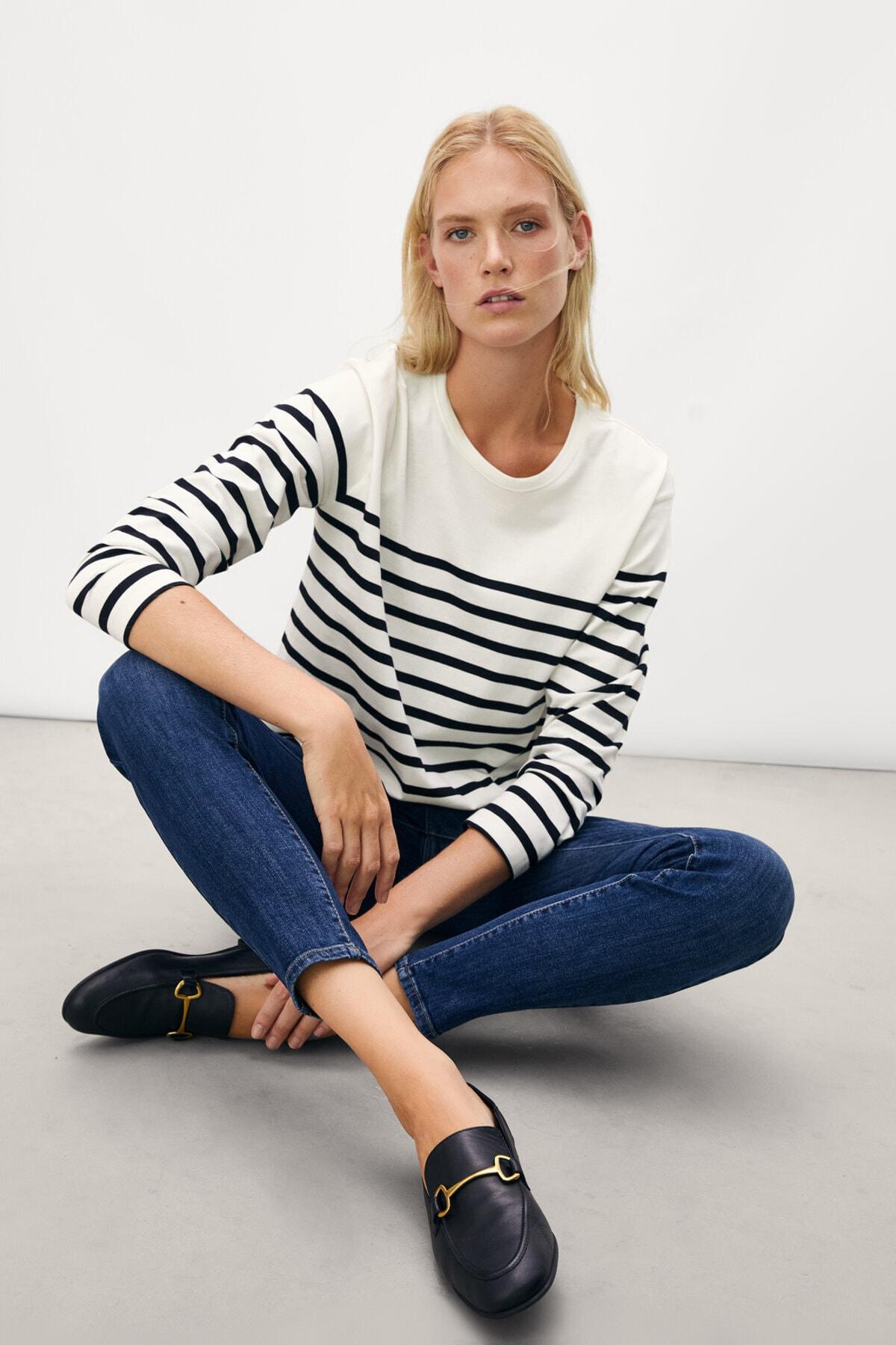 Massimo Dutti Kadın Orta Bel Skinny Fit Jean 05081728