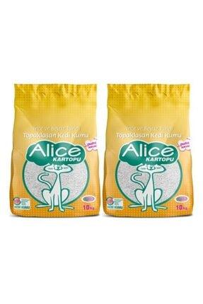 Alice Kartopu Ince Ve Beyaz Taneli Pudra Kokulu Kedi Kumu 2x10 Kg