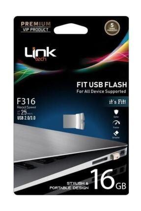 Link Tech Fit Premium 16gb Metal 25mb/s Usb Flash Bellek