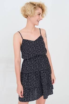 Addax Fırfırlı Ve Desenli Elbise E8120 - J9