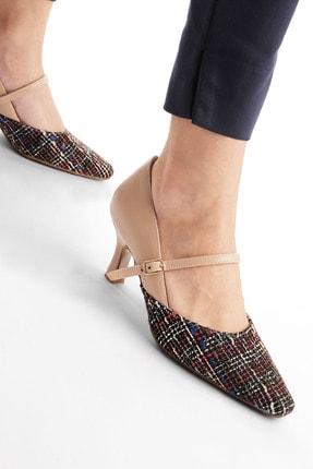 Marjin Kadın Stiletto Topuklu Ayakkabı Rosif Bej