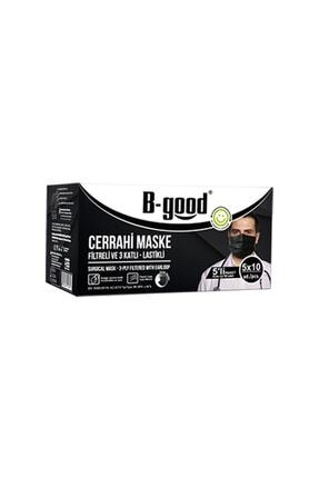 B-GOOD Siyah Cerahi Maske 50 Adet (1 Paket)