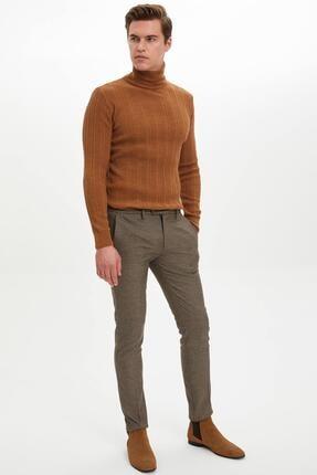 DeFacto Erkek Kahverengi Tailored Fit Pantolon M2112AZ.19WN.BN207