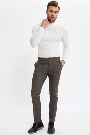 DeFacto Erkek Kahverengi Tailored Fit Pantolon M7501AZ.19WN.BN207