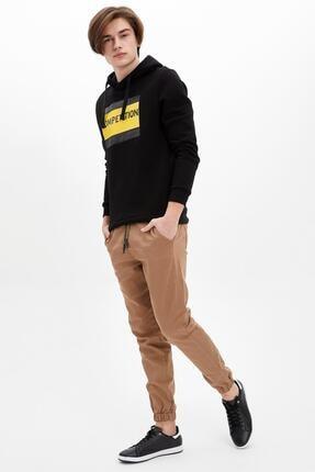 DeFacto Erkek Kahverengi Jogger Dokuma Pantolon