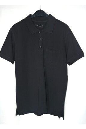 Collezione Erkek Siyah Polo Yaka Lacoste T-shirt