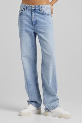 Bershka Bol Kesim Straight Fit Jean
