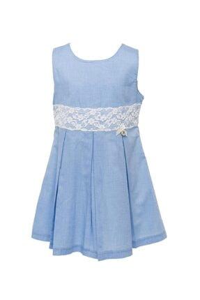 moto angela Kız Çocuk Elbisesi Pamuklu Dizayn (5-12 Yaş Aralığı) Lal38