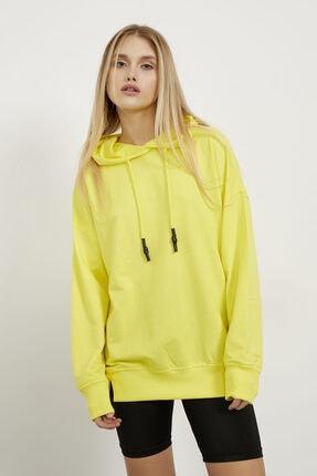 Arma Life Kadın Sarı Kapüşonlu Sweatshirt