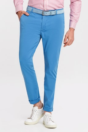 Hemington Erkek Mavi Pamuk Yazlık Chino Pantolon