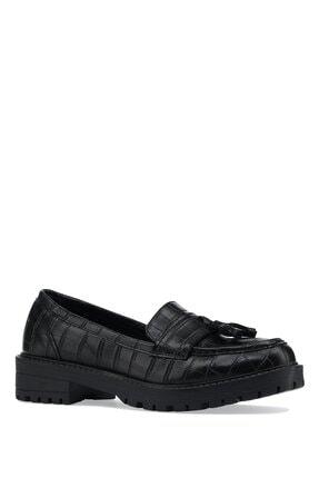 İnci Alabago.k.z 1pr Siyah Kadın Loafer Ayakkabı