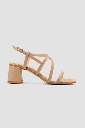 Limoya Kadın  Nud Kısa Topuk Sandalet