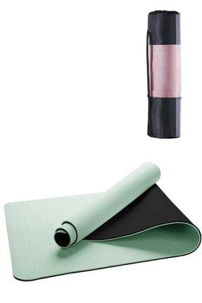 Gymo Ekolojik 6mm Tpe Yoga Matı Pilates Minderi Açık Yeşil