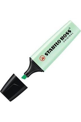 Stabilo Kaliteli Fosforlu Kalem Pastel Yeşil Yeni Seri Boss Orıgınal