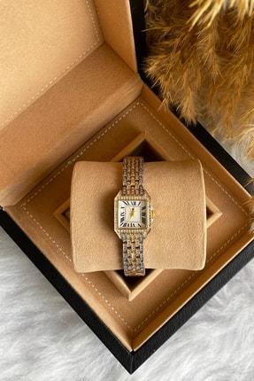 G Sport POLO Kol Saati Kadın Taşlı Kordon Gold Silver Bayan Kol Saati