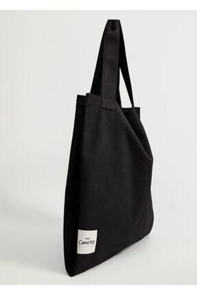 MANGO Woman Pamuklu Shopper Çanta