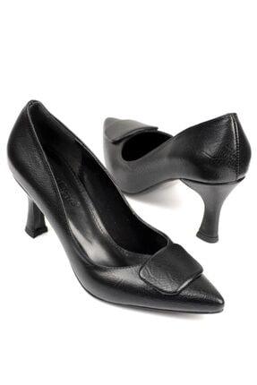 Capone Outfitters Burunlu Tokalı Orta Topuklu Ayakkabı