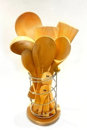 Kitchen Mania 20 Parça Bambu Ahşap Kaşık Tahta Spatula Servis Seti-kaşıklık