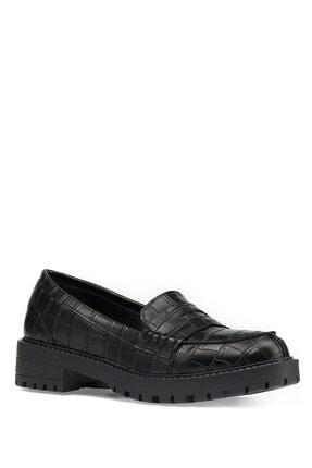 İnci Siyah Kadın Loafer Ayakkabı