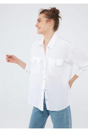 Mavi Cepli Beyaz Gömlek 122855-620