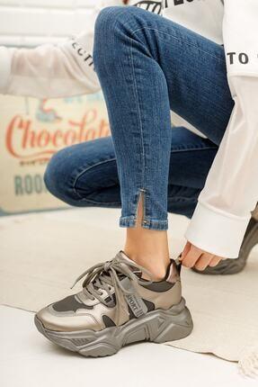 MORENİCA Kadın Gümüş Ortopedik Sneaker
