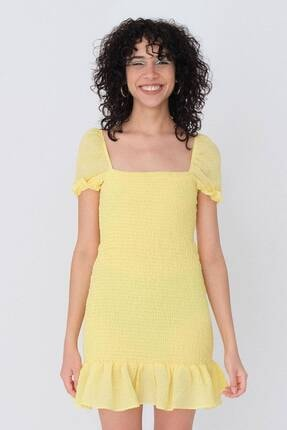 Addax Balon Kol Gipeli Elbise E8107 - W45