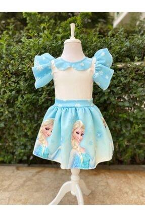 Minnos Kids Kız Çocuk Frozen Pembe Elsa Elbise