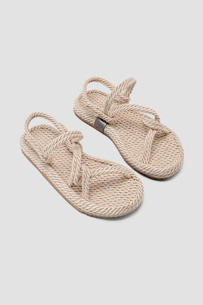 Limoya Kadın Ten Halat Sandalet