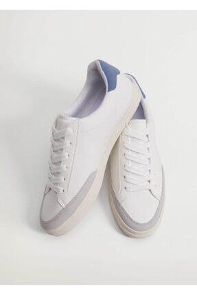 MANGO Woman Kadın Beyaz Bağcıklı Basic Spor Ayakkabı