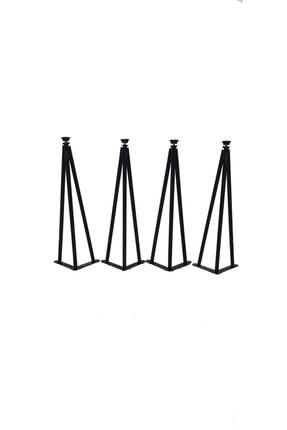 AS DESİGN Dekoratif Metal Boru Firkete Sehpa Ayağı (43 Cm.) (4 Adet)