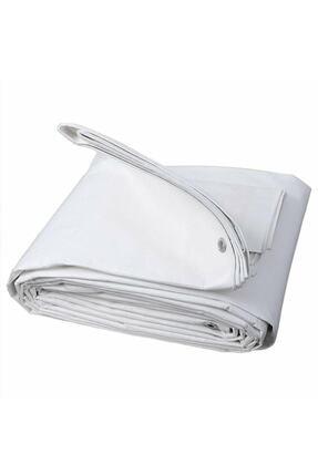 Edoplast 4x4 Metre Beyaz Ebatlı Pvc Branda Gölgelik Su Geçirmez Çadır Branda Tente