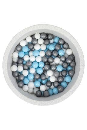 Wellgro Bubble Pops Açık Gri Sünger Top Havuzu / Mavi, Beyaz, Gri Toplu