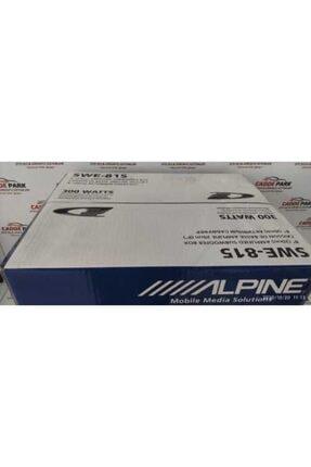 Alpine Swe-815 300watt 20cm Kendinden Anfili Ve Montaj Kablo Setli Kutu Bas Subwoofer