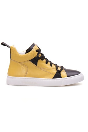 Pegia Kadın Sarı Hakiki Deri Sneaker La1408