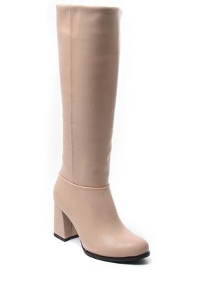 Sapin Kadın Bej Topuklu Çizme