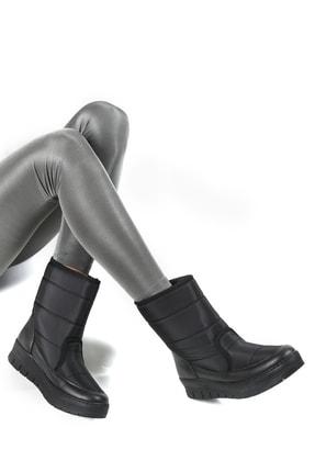 Sapin Kadın Siyah Suni Kürklü Kar Botu 33500