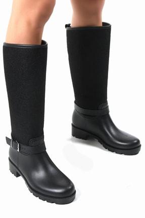 Sapin Kadın Siyah Yağmur Çizmesi 33000