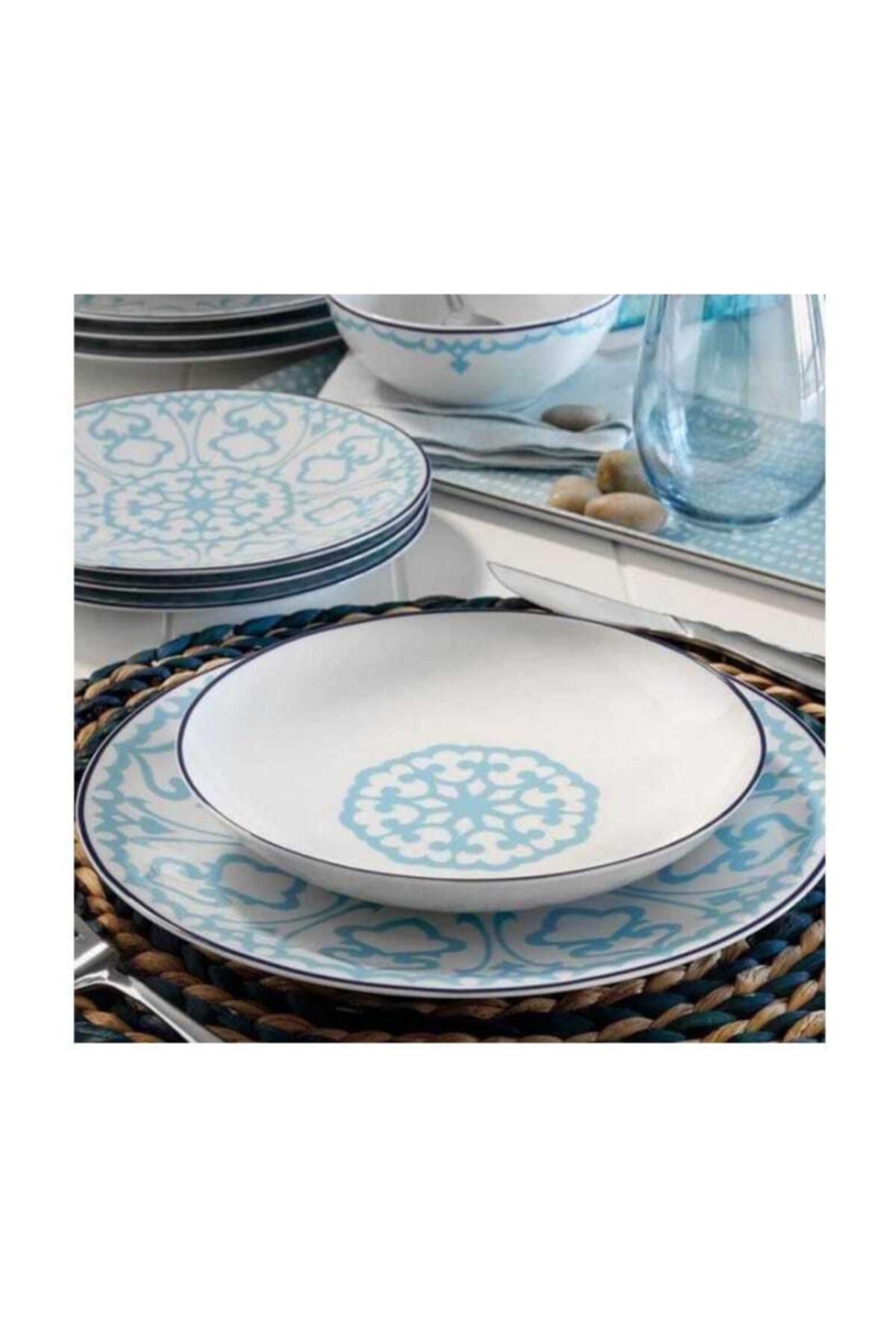 Kütahya Porselen Mavi Zeugma 5966/14 24 Parça Yemek Takımı 1