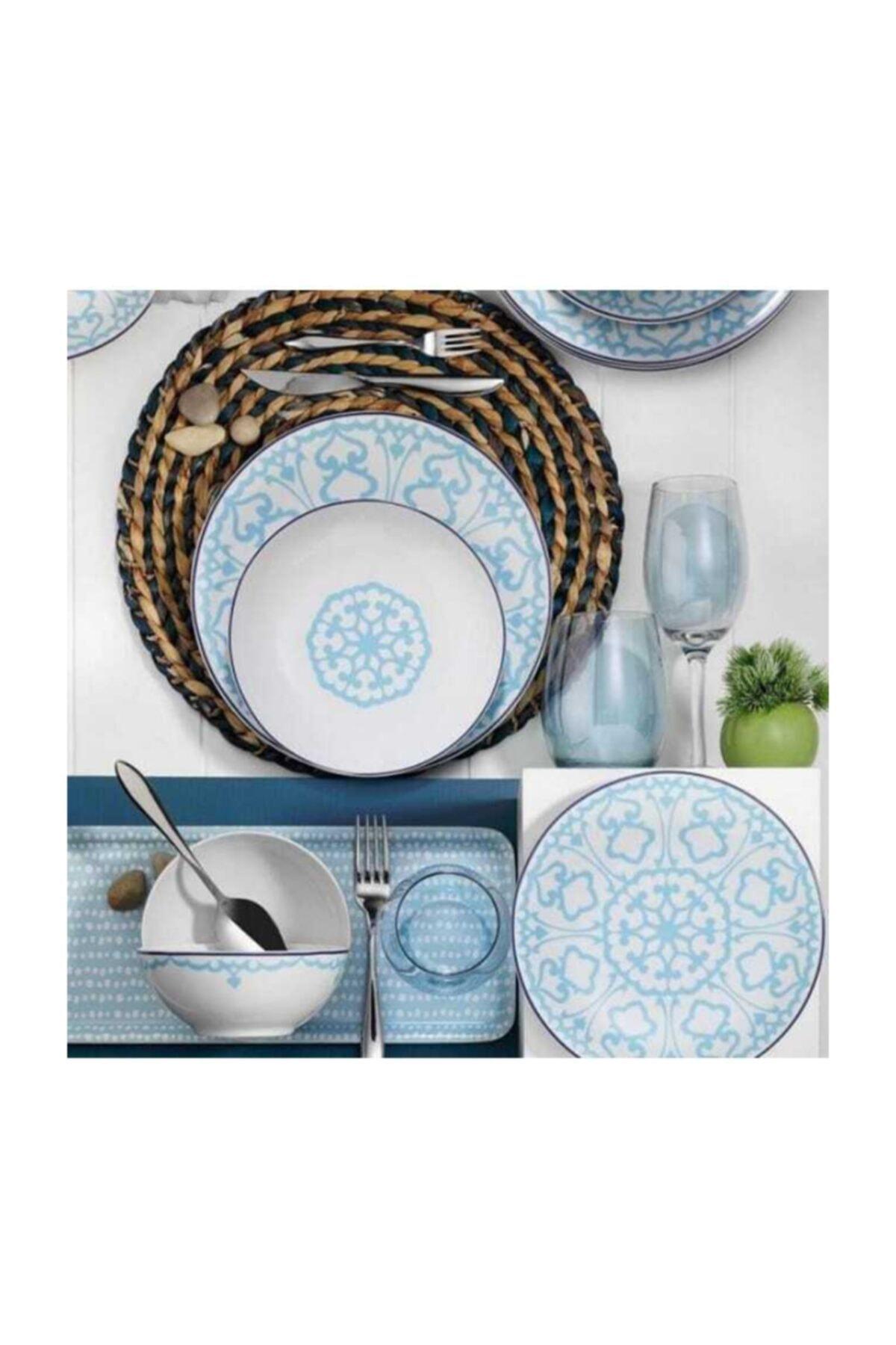 Kütahya Porselen Mavi Zeugma 5966/14 24 Parça Yemek Takımı 2
