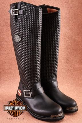 Harley Davidson Zoe Black Deri Kadın Çizme