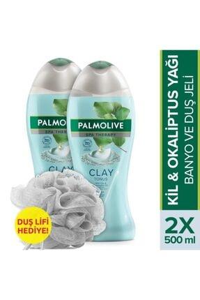 Palmolive Spa Therapy Clay Tonus Kil Duş Jeli 500 Ml X 2 Adet Duş Lif Hediye