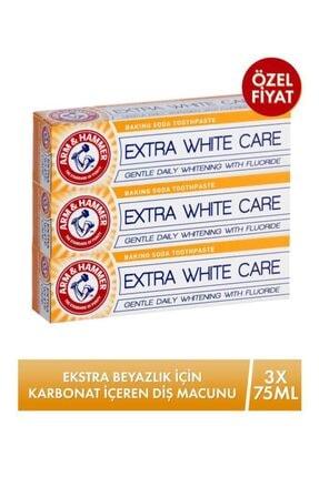 Arm&Hammer Ekstra Beyazlık Için Karbonat Içeren Ekstra White Diş Macunu 75ml X 3 Adet