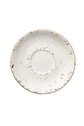 Bonna Porselen Kahverengi Grain Banquet Çay Fincanı Tabak 16cm Grabnc01ct