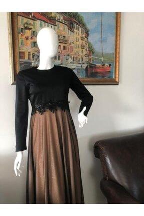 Sude Belden Detaylı Şık Tesettür Bayan Abiye Elbise