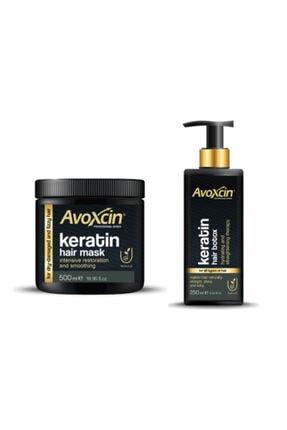 AVOXCIN Hydrating And Straightening Hair Botox & Mask - Keratin Saç Botoksu Ve Maskesi 2'li Set