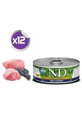 N&D Nd Prime Tahılsız Kuzulu Yaban Mersinli Yetişkin Kedi Konservesi 80 Gr X12