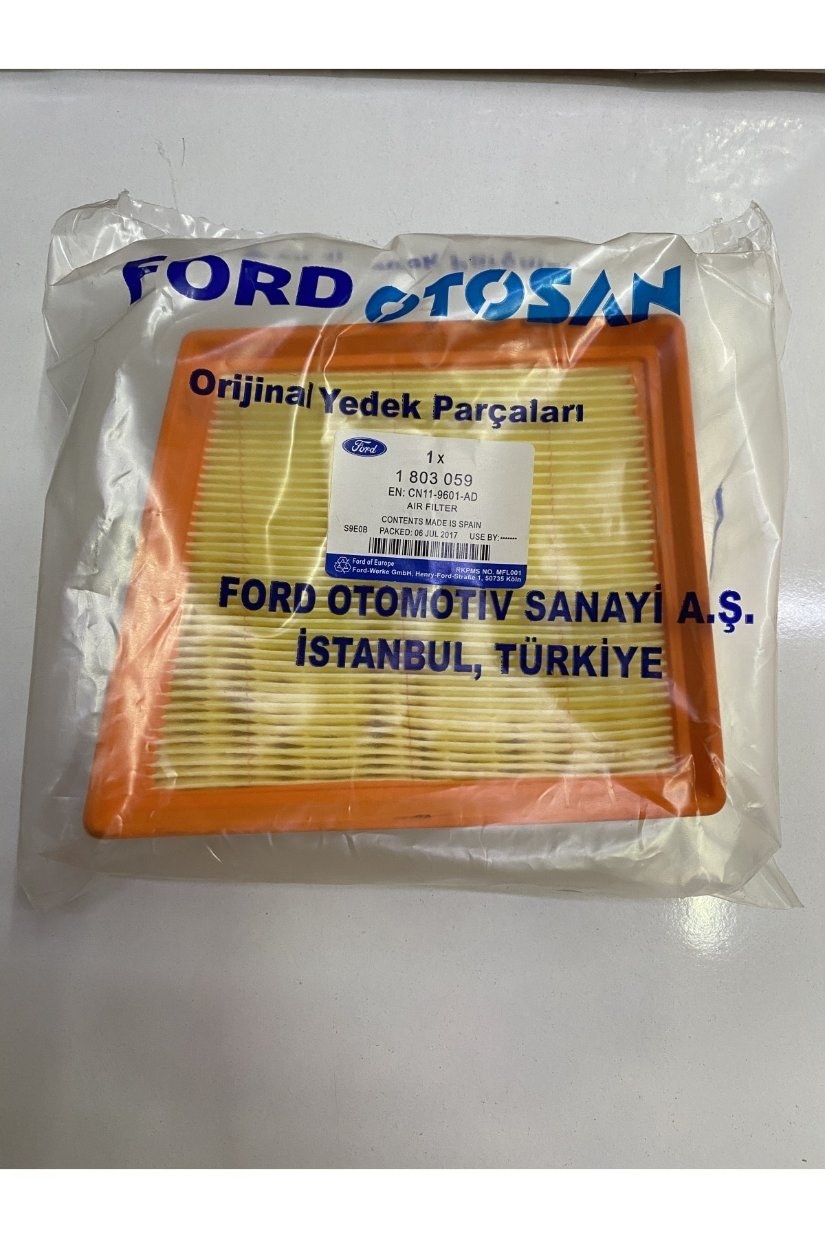 FOMOCO Ford Courier 1.5-1.6 Tdci Hava Filtresi Orijinal Ürünüdür. 2