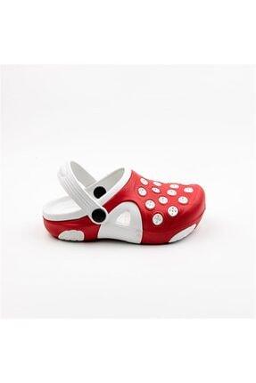 Akınal Bella Unisex Çocuk Kırmızı Beyaz Sandalet E223.P.100