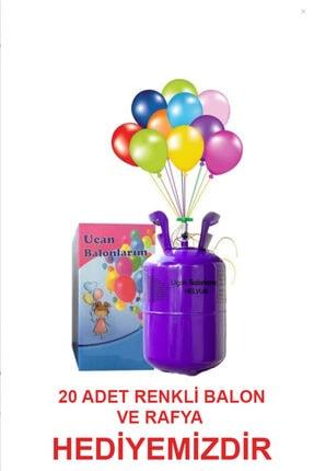 Baloncum Helyum Tüpü Kullan At (balon Gazı 20 Adet Metalik Karışık Renk Balon Ve Ipi Ile Birlikte)