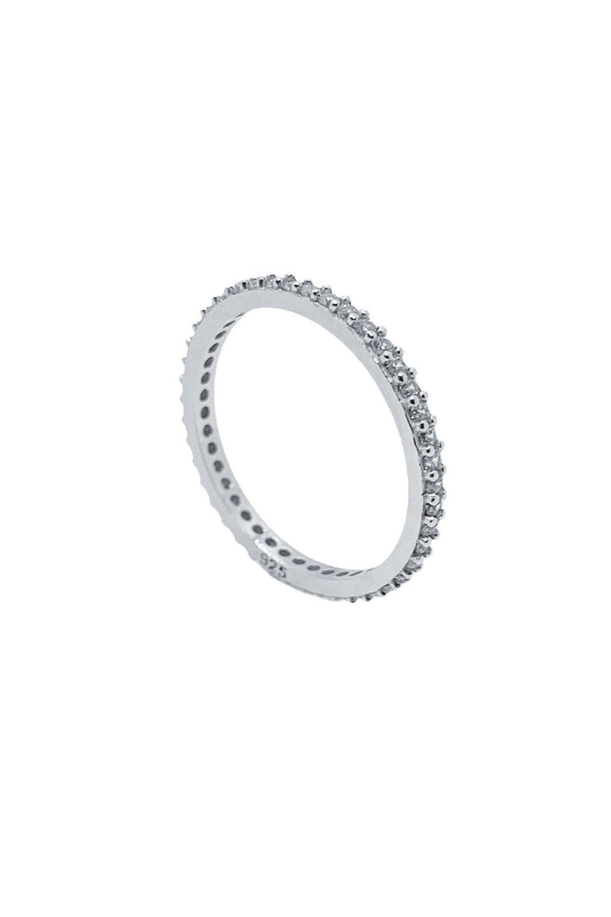 Marylebone Silver Ince Minimal Tamtur Gümüş Yüzük 2